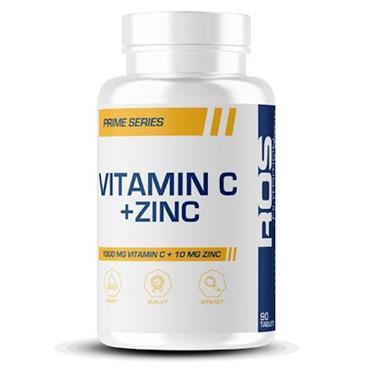ROS Nutrition Vitamin C + Zinc 1000 mg Vitamin C + 10 mg Zinc 90s