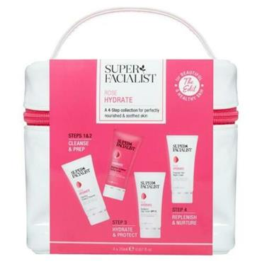 Super Facialist Rose Hydrate 4 Step Collection -Cleanser,Scrub,Day & Night Cream