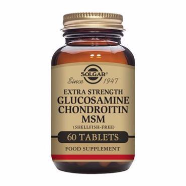 Solgar Extra Strength Glucosamine Chondroitin MSM 60Tabs