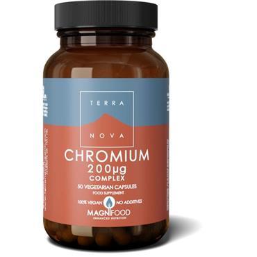Terra Nova Chromium 200ug Complex Veg Caps 50s