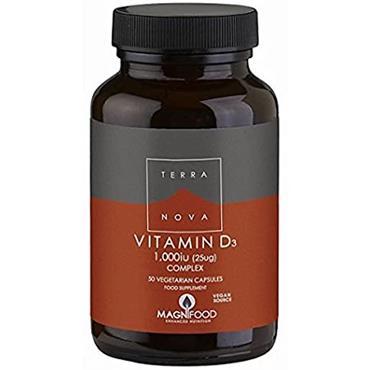 TerraNova Vitamin D3 Complex, 1000IU 50s