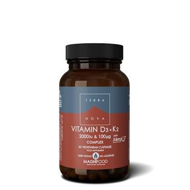 Terra Nova Vitamin D3 2000iu & Vitamin K2 100ug 100s