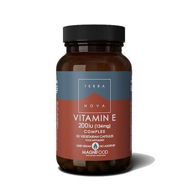 TerraNova Vitamin E 200iu Complex (50 veg caps)