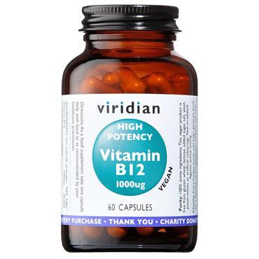 Viridian High Potency Vitamin B12 1000ug 60s