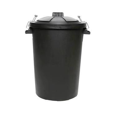 Outdoor Bin with Lid Black 80ltr