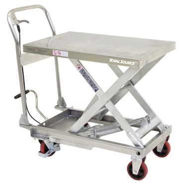 Total Source Semi-Stainless Manual Lift Tables, 815 x 500mm