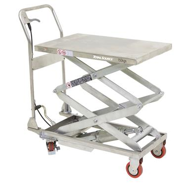 Total Source Semi-Stainless Manual Lift Tables, 915 x 500mm