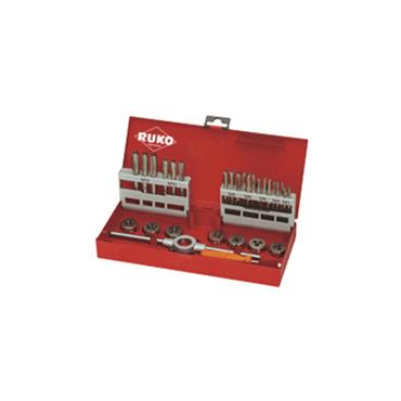 Thread Cutting Set 1 and 2 in Steel Case 31 Piece