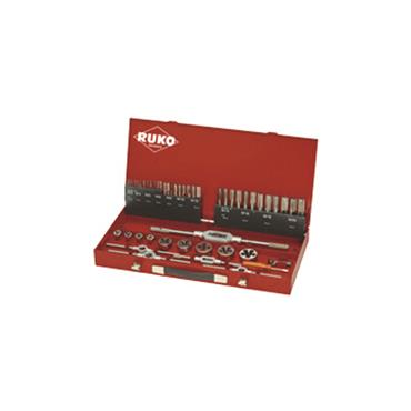Thread Cutting Set 7 and 8 in Steel Case 54 Piece