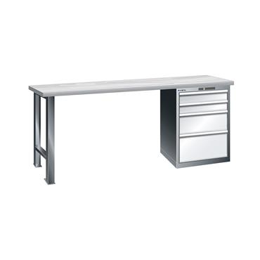 Lista Workbenches I with Multiplex Top fitted with Drawer Cabinets