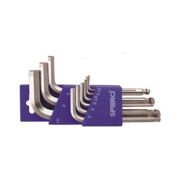 Spero Premium Ballpoint Hex Keys Metric Set, 9 Piece