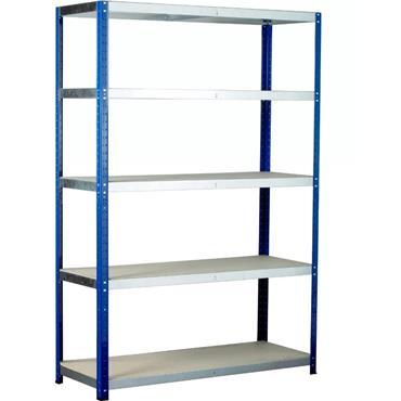 Eco-Rax Standard Shelving w/ 5 Shelves, 1800 mm High