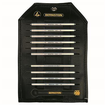 Bernstein 11 Piece Interchangeable Screwdriver Set with ESD Handle