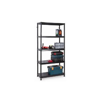 Modular Plastic Shelving Unit, 1840 x 900 x 400, 5 Shelf
