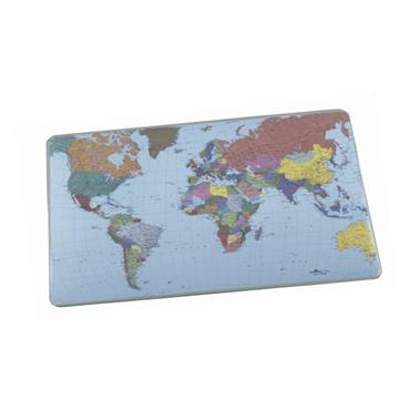 Durable, Desk Mat with World Map