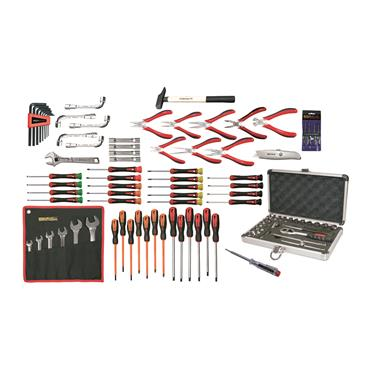 Ega Master Electricians Tool Set Including Tool Case, 100 Piece