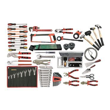 Ega Master Electromechanical Tool Set Including Tool Case, 74 Piece