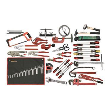 Ega Master Plumbing Tool Set Including Tool Case, 69 Piece