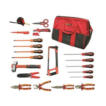 Ega Master Electricians Tool Set Including Tool Bag, 21 Piece