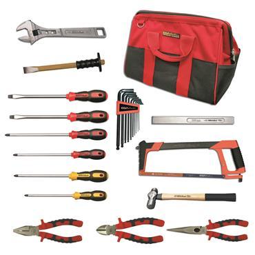 Ega Master Mechanics Tool Set Including Tool Bag, 18 Piece
