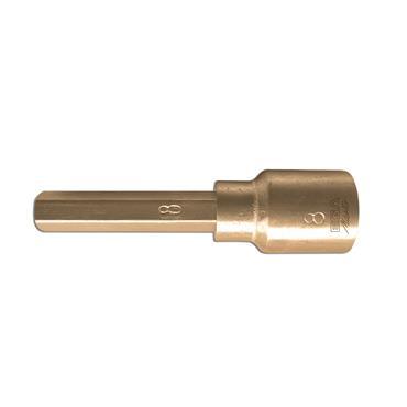 "Ega Master Non-Sparking Flat Bit Socket, 1/2"", 13x2mm"
