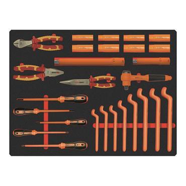 Ega Master Electricians Tool Set Including E51054 Tool Case, 27 Piece