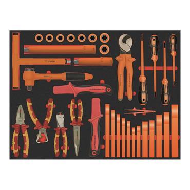 Ega Master Electricians Tool Set Including E51054 Tool Case, 37 Piece