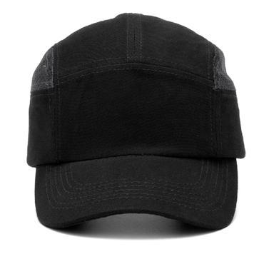 Pyramex Black & Gray 7cm Peak Bump Cap