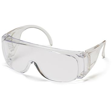Pyramex Solo Safety Glasses, Clear Lens / Frame Combination