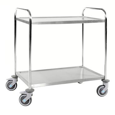 Kongamek Stainless 18/8 Class C3 Trolley, 2 Shelves