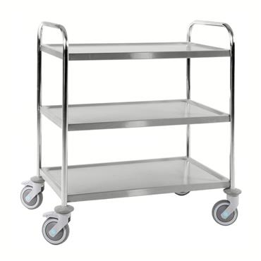 Kongamek Stainless 18/8 Class C3 Trolley, 3 Shelves