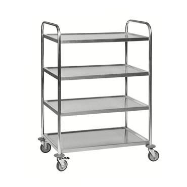 Kongamek Stainless 18/0 Class C2 Trolley, 4 Shelves