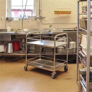 Kongamek Stainless 18/0 Class C2 Trolley, 2 Shelves