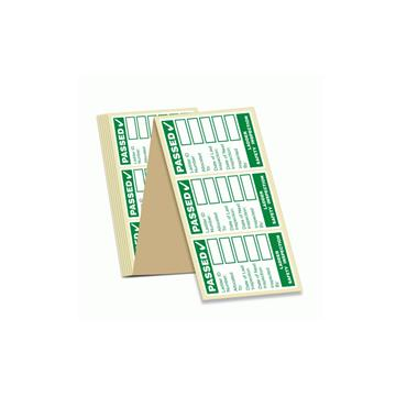 Pass Ladder Safety Inspection Labels in Green x 100