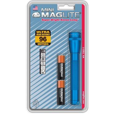 Mag-Lite Mini Maglite 2x AA Flashlight Blue M2A116