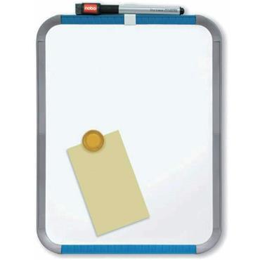 Nobo Slimline Magnetic Whiteboard with Pen and Eraser - 280 mm x 220 mm, White