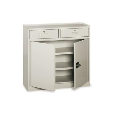 Cupboard with 2 Lockable Door, 2 Adjustable Shelves
