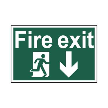 Safety Signs: Fire Safety & Safe Condition, Fire Exit
