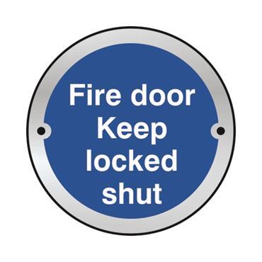 Safety Signs: Fire Door, Keep Locked Shut