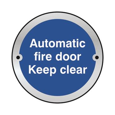 Safety Signs: Automatic Fire Door, Keep Shut