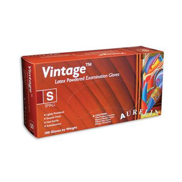 Supermax, Aurelia Vintage Glove Latex Lightly Powdered, 100 Box