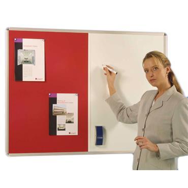 Aluminium Frame Pin / Write Non Magnetic White Board