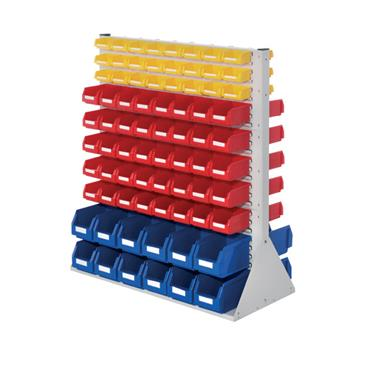 RasterPlan System Units with Plastic Bins, Size 5 One Sided