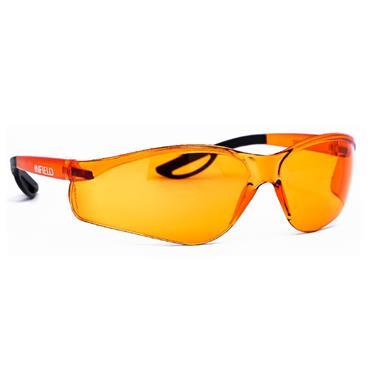 Infield Raptor Safety Glasses, Orange Frame, Orange Lens