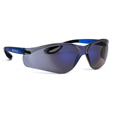 Infield Raptor Safety Glasses, Blue Frame, Blue Lens