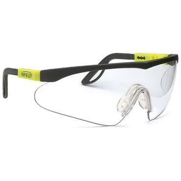 Infield Alligator Safety Glasse, Black and Yellow Frame, Clear Lens