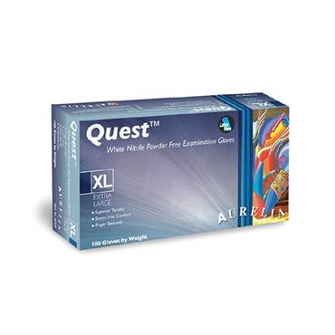 Supermax, Aurelia Quest Glove White Nitrile Powder Free, 100 Box