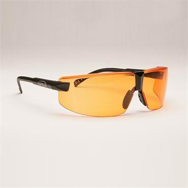 Infield Safety Exor Safety Glasses, Orange Lens