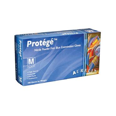 Supermax, Aurelia Protégé Sky Blue Glove Nitrile Powder, 100 Box