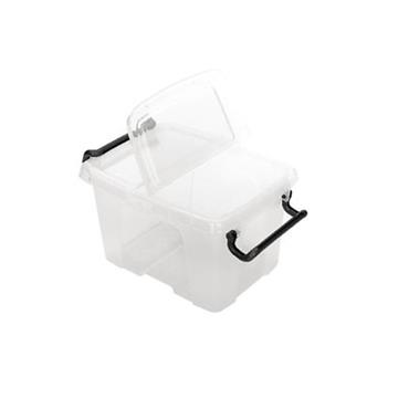Storemaster Box Plastic Container with Hinged Lid